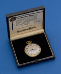 Timepieces:Pocket (post 1900), Hamilton Gold Filled 912 Pocket Watch With Original Box. ...