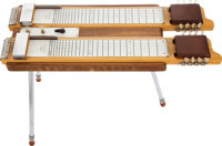 Early 1950s Magnatone Lyric Doubleneck Console Two-Tone Wood Lap Steel Guitar, #38441