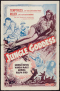 "Movie Posters:Adventure, Jungle Goddess (Screen Guild Productions, 1948). One Sheet (27"" X41""). Adventure.. ..."