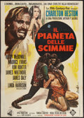 """Movie Posters:Science Fiction, Planet of the Apes (20th Century Fox, 1968). Italian 2 - Foglio (39"""" X 55""""). Science Fiction.. ..."""