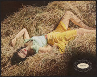 """Jane Russell in The Outlaw by George Hurrell (Esquire Magazine, June, 1942). Magazine Foldout (14' X 17.75""""). We"""