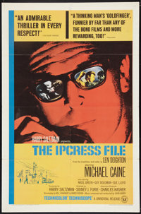"The Ipcress File (Universal, 1965). One Sheet (27"" X 41""). Thriller"