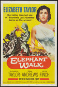 "Movie Posters:Adventure, Elephant Walk Lot (Paramount, R-1960). One Sheet (27"" X 41"") andLobby Card (11"" X 14""). Adventure.. ... (Total: 2 Items)"