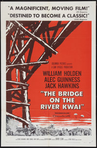 """The Bridge On The River Kwai (Columbia, 1958). One Sheet (27"""" X 41"""") Style A. War"""