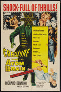 """Movie Posters:Horror, Creature with the Atom Brain (Columbia, 1955). One Sheet (27"""" X 41""""). Horror.. ..."""