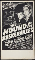"Movie Posters:Mystery, The Hound of the Baskervilles (20th Century Fox, R-1970s). WindowCard (12.5"" X 21.75""). Mystery.. ..."
