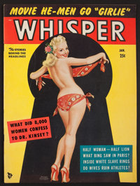 "Whisper Magazine (Whisper, Inc., Jan, 1951). Magazine (60 Pages, 8.5"" X 11.5""). Sexploitation"