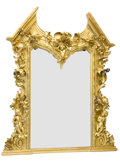 Decorative Arts, French:Other , A FRENCH BAROQUE STYLE GILT AND PAINTED WOOD MIRROR . Unknownmaker, probably Paris, France, circa 1880-1900. Unmarked. 93 x...
