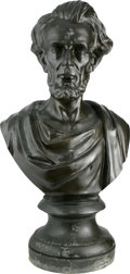 Political:3D & Other Display (1896-present), Abraham Lincoln Massive Bronze-Finish Bust; A Unique Image....