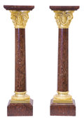 Decorative Arts, French:Other , A PAIR OF FRENCH NAPOLEON III STYLE MARBLE AND GILT BRONZEPEDESTALS . Unknown maker, probably Paris, France, late 20thcent... (Total: 2 Items)