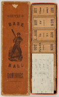 Baseball Collectibles:Others, 1886 Base Ball Dominoes - Less Than Five Known!...