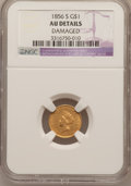 Gold Dollars, 1856-S G$1 Type Two -- Damaged -- NGC Details. AU....