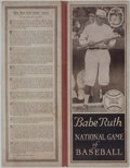 Baseball Collectibles:Others, 1921 Babe Ruth National Game of Baseball....