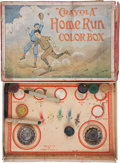 Baseball Collectibles:Others, Early 1900s Crayola Home Run Colorbox - Baseball Image on Box....