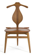 Furniture : Continental, A HANS WEGNER TEAK AND BRASS VALET CHAIR . Hans Wegner (Danish,1914-2007). Manufactured by Johannes Hansen, Copenhagen, Den...