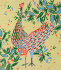 Decorative Arts, French:Other , A SIMONE GAMBUS HAND PAINTED GOUACHE WALLPAPER DESIGN . SimoneGambus, France, circa 1958-1959. Inscribed: Gambus, n1309...