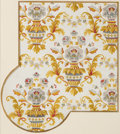 Decorative Arts, French:Other , ROBATIENNE PASQUIER FRENCH ART DECO HAND PAINTED GOUACHE WALLPAPERDESIGN . Circa 1932. Marks: ROGATIENNE PASQUIER. 17-3...