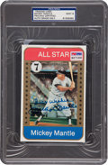 Baseball Cards:Autographs, Mickey Mantle Signed Card, PSA Mint 9....