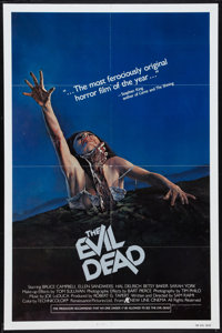 "The Evil Dead (New Line, 1981). One Sheet (27"" X 41""). Horror"