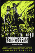 "Movie Posters:Action, Streets of Fire (Universal, 1984). One Sheet (27"" X 41"") Green Style SS Advance. Action.. ..."
