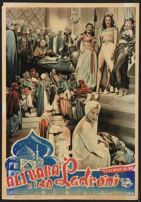 """Ali Baba and the Forty Thieves Lot (Universal, 1948). First Post-War Release Italian Locandina (13.25"""" X 19"""")..."""