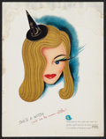 """Movie Posters:Fantasy, I Married a Witch (United Artists, 1942). Double-Sided Trade Ad (9.25' X 12.25""""). Fantasy.. ..."""