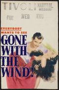 "Movie Posters:Academy Award Winners, Gone with the Wind (MGM, R-1947). Window Card (12.75"" X 19.75"").Academy Award Winners.. ..."