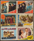 "Movie Posters:Action, Dive Bomber Lot (Warner Brothers, 1941). Lobby Cards (6) (11"" X14""). Action.. ... (Total: 6 Items)"