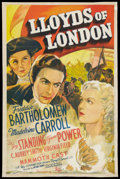 "Movie Posters:Drama, Lloyds of London (20th Century Fox, 1936). International One Sheet(27"" X 41"") Style C. Drama.. ..."