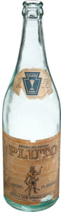 Baseball Collectibles:Others, 1910's Pluto Concentrated Spring Water Bottle....