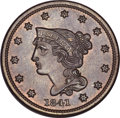 Large Cents, 1841 1C MS65 Brown PCGS. N-2, R.2. MRB MS63+. ...
