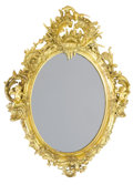 Decorative Arts, French:Other , A FRENCH LOUIS XV STYLE GILT WOOD MIRROR . Unknown maker, probablyParis, France, circa 1900. Unmarked. 54 x 42 inches (137....