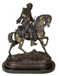 Bronze:European, A FRENCH PATINATED BRONZE FIGURAL GROUP AFTER EMILE CORIOLAN HIPPOLYTE GUILLEMIN (FRENCH, 1841-1907) AND ALFRED BARYE (FRENCH,...