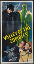 """Movie Posters:Horror, Valley of the Zombies (Republic, 1946). Three Sheet (41"""" X 81""""). Horror.. ..."""