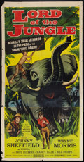 "Movie Posters:Adventure, Lord of the Jungle (Allied Artists, 1955). Three Sheet (41"" X 81"").Adventure.. ..."