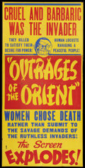 "Movie Posters:Exploitation, Outrages of the Orient (Lloyd Friedgen, 1948). Three Sheet (41"" X81""). Exploitation.. ..."