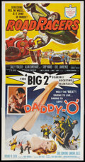 "Movie Posters:Action, Daddy ""O""/RoadRacers Combo (American International, 1959). ThreeSheet (41"" X 81""). Action.. ..."