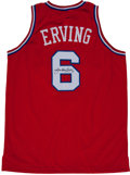 Basketball Collectibles:Uniforms, Julius Erving Signed Jersey....