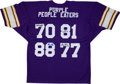 """Football Collectibles:Uniforms, Minnesota Vikings """"Purple People Eaters"""" Multi Signed Jersey...."""