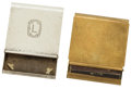 Silver Smalls:Other , A WM. B. KERR & CO. SILVER GOLFING MATCH BOOK COVER AND SCORE CARD HOLDER . Newark, New Jersey, circa 1920. Marks: (banded a... (Total: 2 Items)