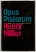 Books:First Editions, Henry Miller. Opus Pistorum. New York: Grove Press, [1983].First edition, first printing. Octavo. Publisher's bindi...