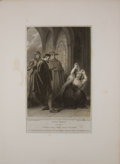Antiques:Posters & Prints, Two Engraved Plates from Boydell's Shakespeare. Cheapside:J. & J. Boydell, ca. 1790's. General mild toning with...(Total: 2 Items)