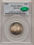 Coins of Hawaii, 1883 25C Hawaii Quarter MS66+ PCGS. CAC....