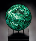 Lapidary Art:Spheres, FINE MALACHITE SPHERE. ...