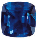 Gems:Faceted, RARE GEMSTONE: UNTREATED DEEP BLUE SAPPHIRE - 3.90 CT. ...