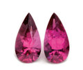 Gems:Faceted, RUBELLITE: RICH RED MATCHED PAIR - 17.26 TCW. ...