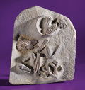 Fossils:Echinoderms, FINE FOSSIL CRINOID PLAQUE. ...