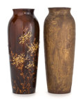 Ceramics & Porcelain, TWO ROOKWOOD ART POTTERY VASES DECORATED BY VALENTIEN . Decorated by Albert Robert Valentien (American, 1862-1925). Rookwood... (Total: 2 Items)