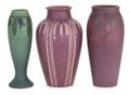 Ceramics & Porcelain, American:Modern  (1900 1949)  , A GROUP OF THREE ROOKWOOD ART POTTERY VELLUM VASES . Decorated byLouise Abel and Charles Stewart Todd . Rookwood Pottery, ...(Total: 3 Items)