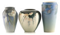 Ceramics & Porcelain, American:Modern  (1900 1949)  , A GROUP OF THREE ROOKWOOD ART POTTERY VASES . Decorated byElizabeth Lincoln and Edward George Diers . Rookwood,Cincinnati,... (Total: 3 Items)